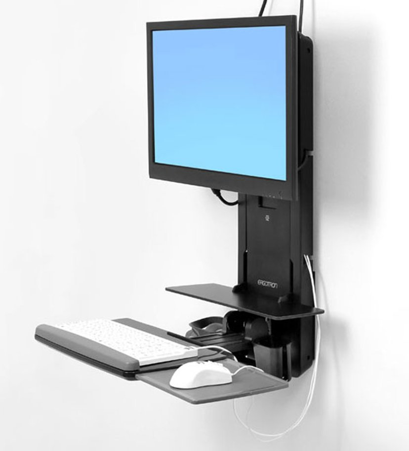 Ergotron StyleView Sit-Stand Vertical Lift, Patient Room
