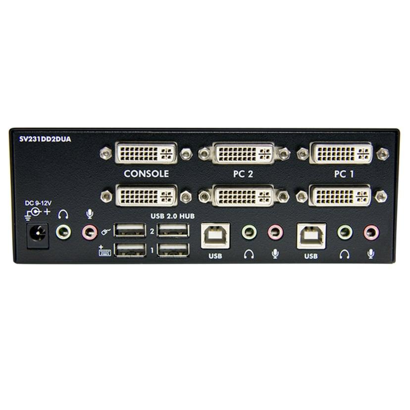 Startech 2 Port Dual DVI USB KVM Switch w/ Audio & USB Hub