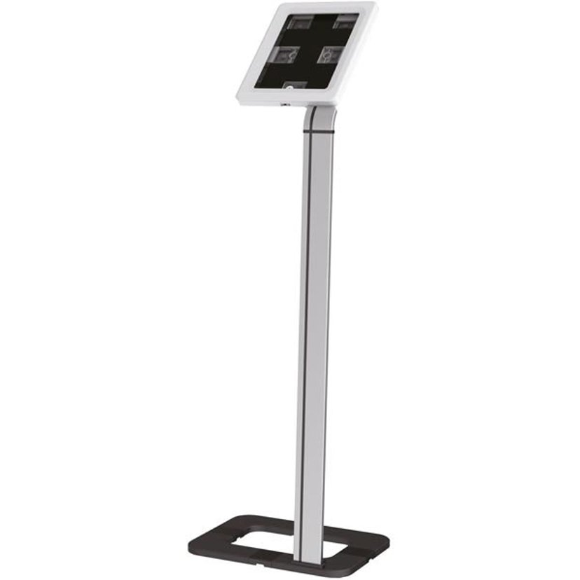 "Deltaco Lockable Floorstand For Tablets 9,7-10.1"" Silver/White"
