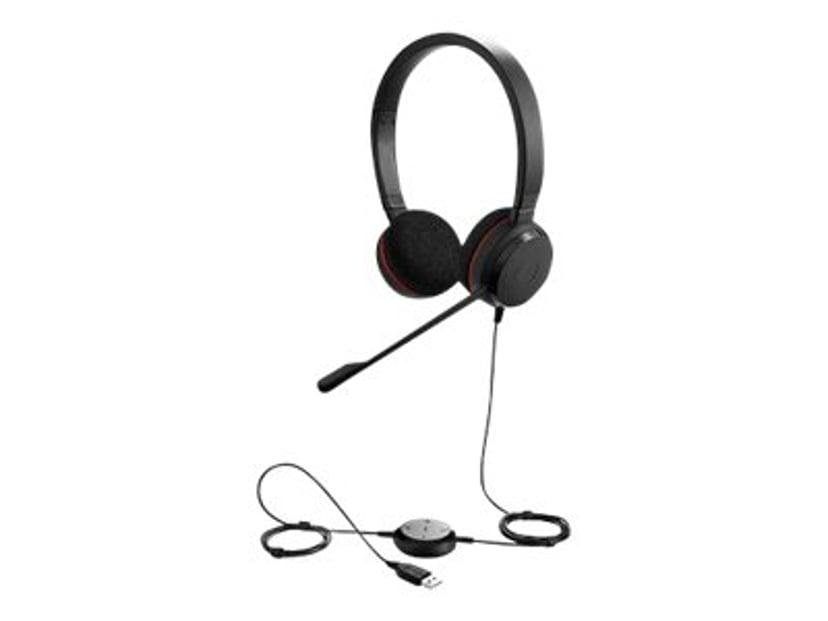 Jabra Evolve 20 MS Stereo Headset Svart