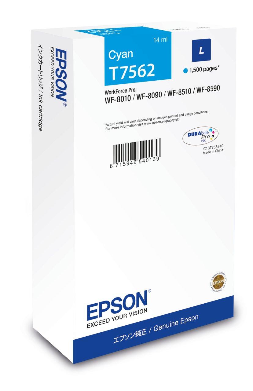Epson Inkt Cyaan T7562 1,5K - WF-8010/8090/8510/8590