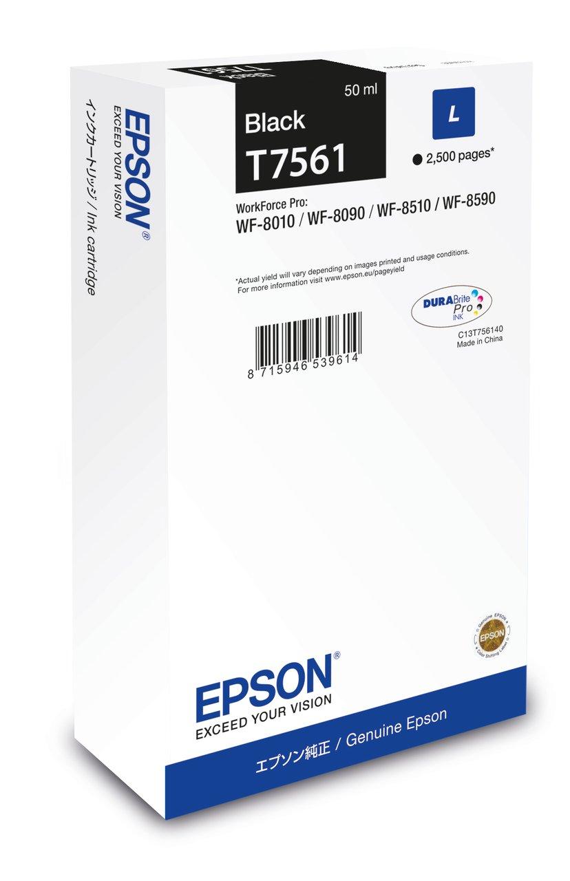 Epson Inkt Zwart T7561 2,5K - WF-8010/8090/8510/8590