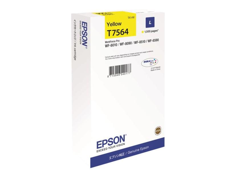 Epson Blekk Gul T7564 1,5K - WF-8010/8090/8510/8590