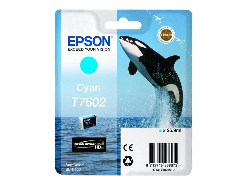 Epson Blekk Cyan T7602