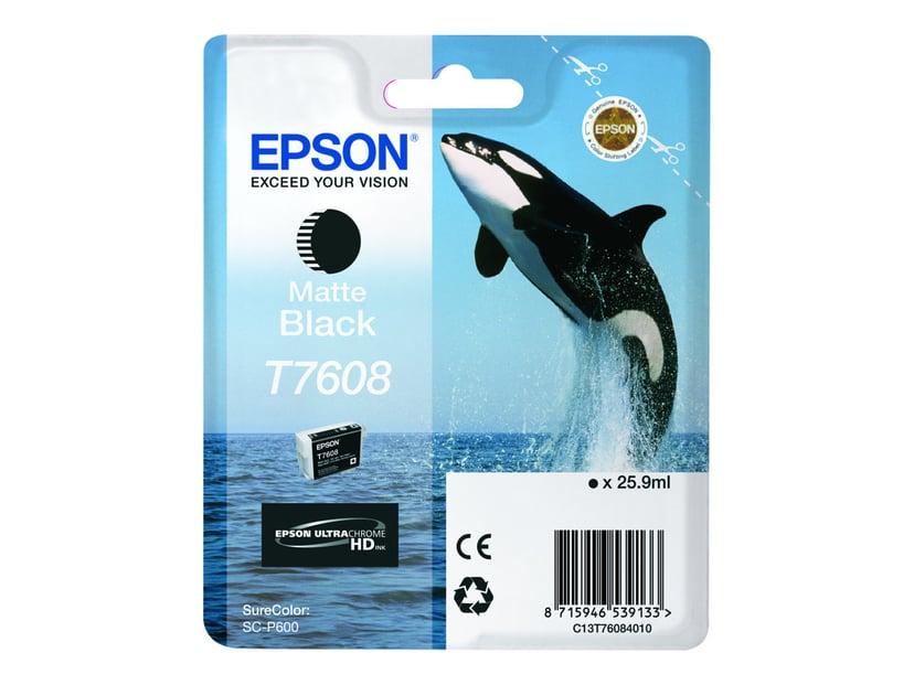 Epson Bläck Matt Svart T7608