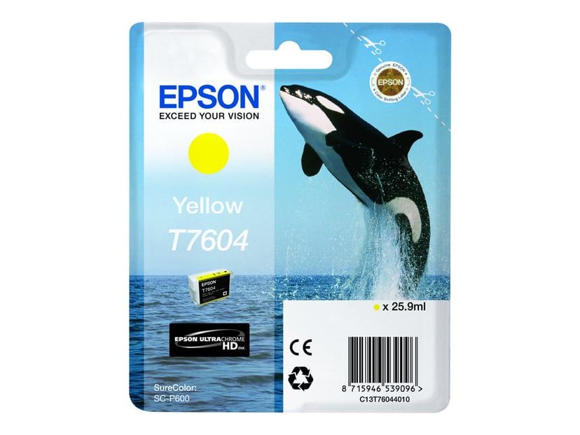Epson Blekk Gul T7604