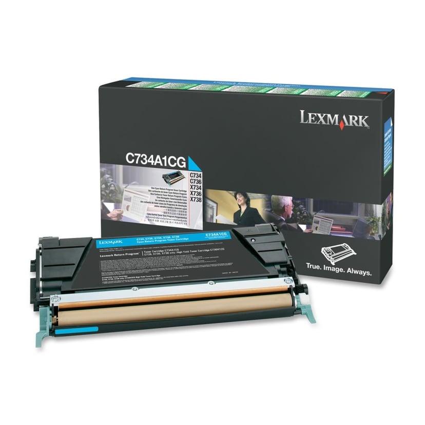 Lexmark Toner Cyan 6k - C73X X73X Return