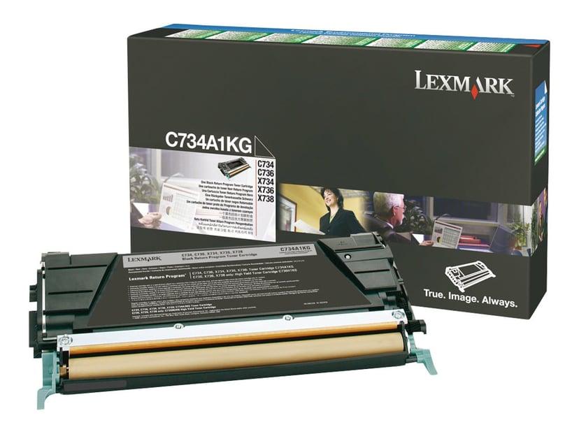 Lexmark Toner Svart 8k - C73X X73X Return