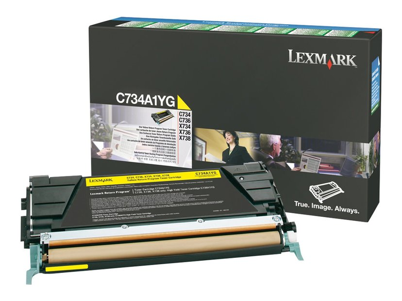 Lexmark Toner Gul 6k - C73X X73X Return