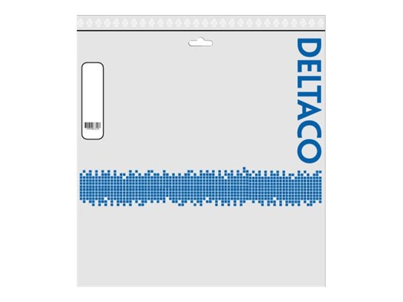 Deltaco VGA-/ljudkabel 20m Minitelefon 3,5 mm, VGA Hane Minitelefon 3,5 mm, VGA Hane