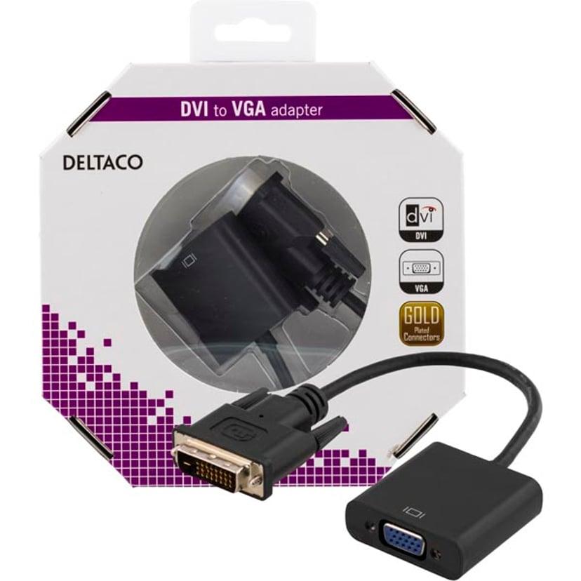 Deltaco Adapter DVI-D Hann VGA Hunn