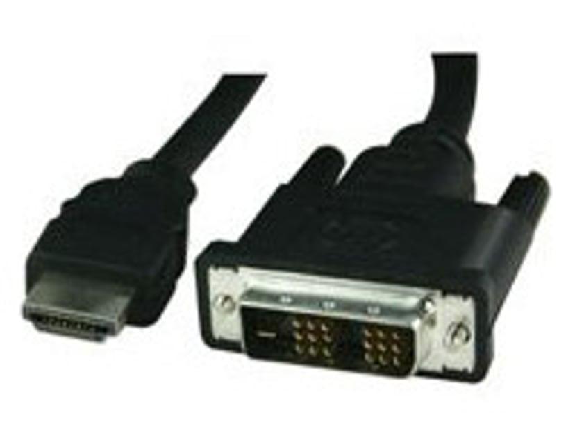 Deltaco Videokabel 10m DVI-D Hane HDMI Hane