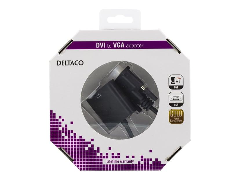 Deltaco Adapter DVI-D Han VGA Hun