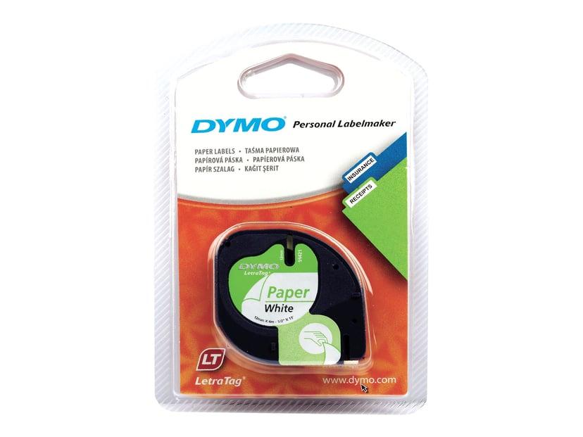 Dymo Tape LetraTAG 12mm Papper Vit