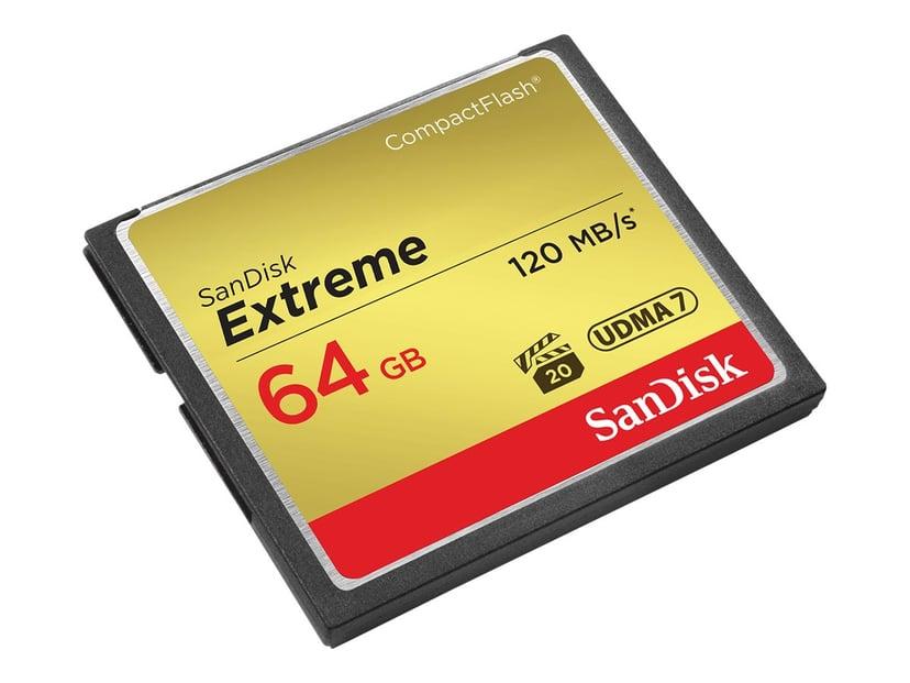 SanDisk Extreme 64GB CompactFlash Kort