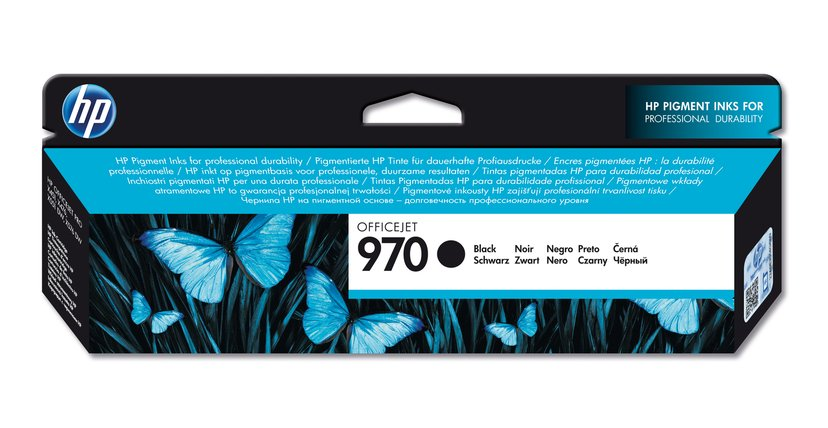 HP Blekk Svart No.970 3K - OfficeJet Pro X451/X551/X476 X576 #Köp