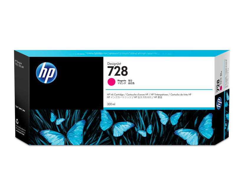 HP Blekk Magenta 728 300ml - DJ T730/T830