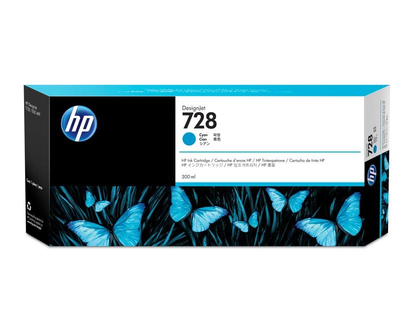 HP Blekk Cyan 728 300ml - DJ T730/T830