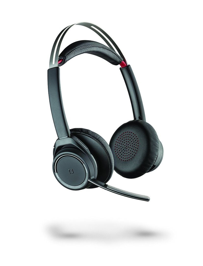 Poly Voyager Focus UC B825-M BT Headset (W/O Charger Stand) Musta