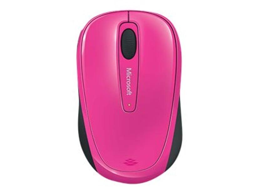 Microsoft Wireless Mobile Mouse 3500 Rosa Mus Trådløs 1,000dpi