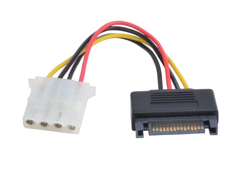 Prokord Strömadapter 4 pin intern effekt Hona 15-stifts seriell ATA-ström Hane