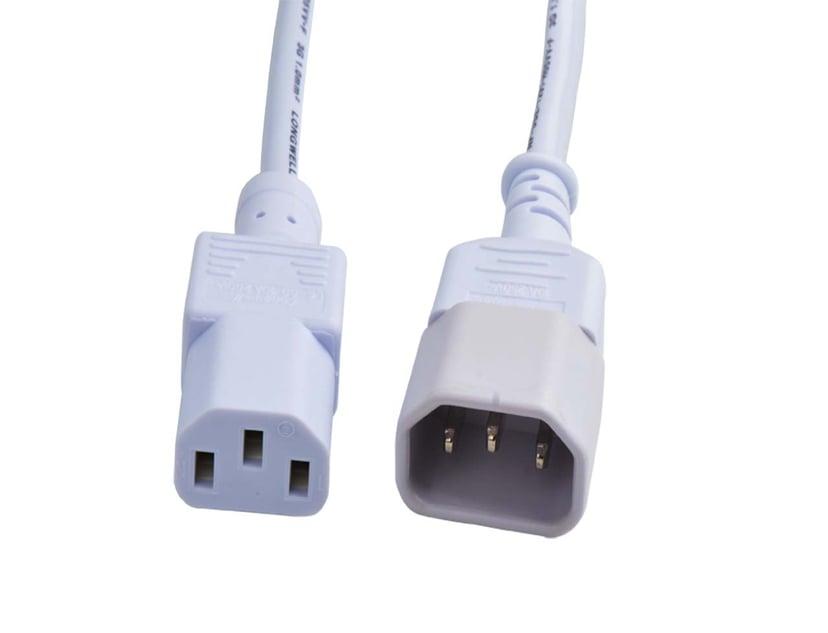 Prokord Forlængerkabel til strøm 1m Strøm IEC 60320 C14 Strøm IEC 60320 C13