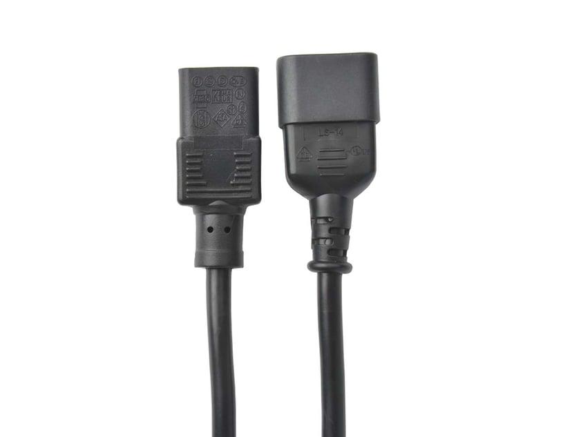 Prokord Strømkabel 2m Strøm IEC 60320 C14 Strøm IEC 60320 C13