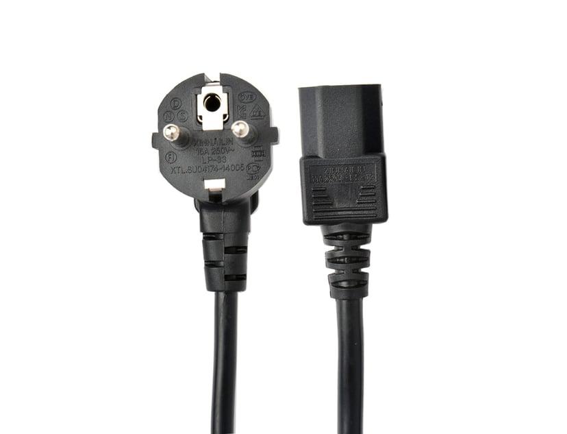 Prokord Strömkabel 3m Ström CEE 7/7 Hane Ström IEC 60320 C13
