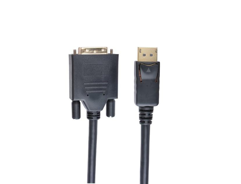 Prokord DisplayPort kabel 0.5m DisplayPort Han DVI-I Han