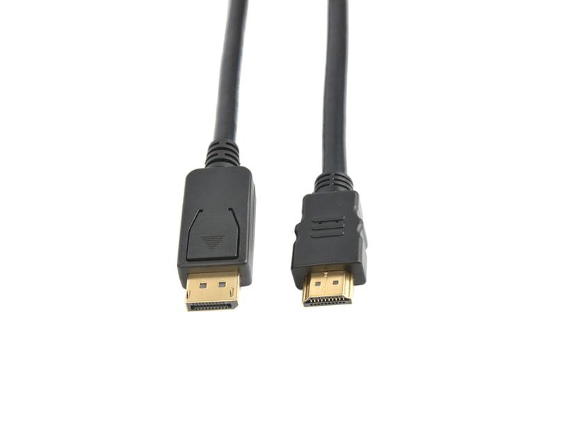 Prokord HDMI-kabel 0.5m DisplayPort Han HDMI Han