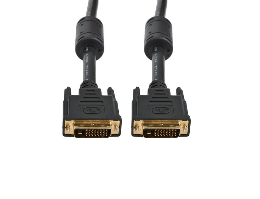 Prokord DVI-kabel 3m DVI-D Dual Link Han DVI-D Dual Link Han