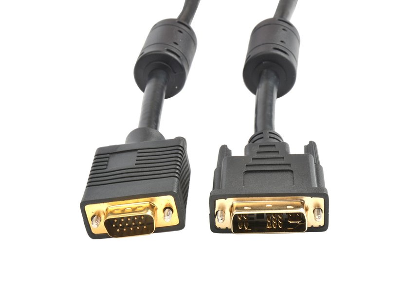 Prokord DVI-kabel 2m DVI-A Han VGA Han