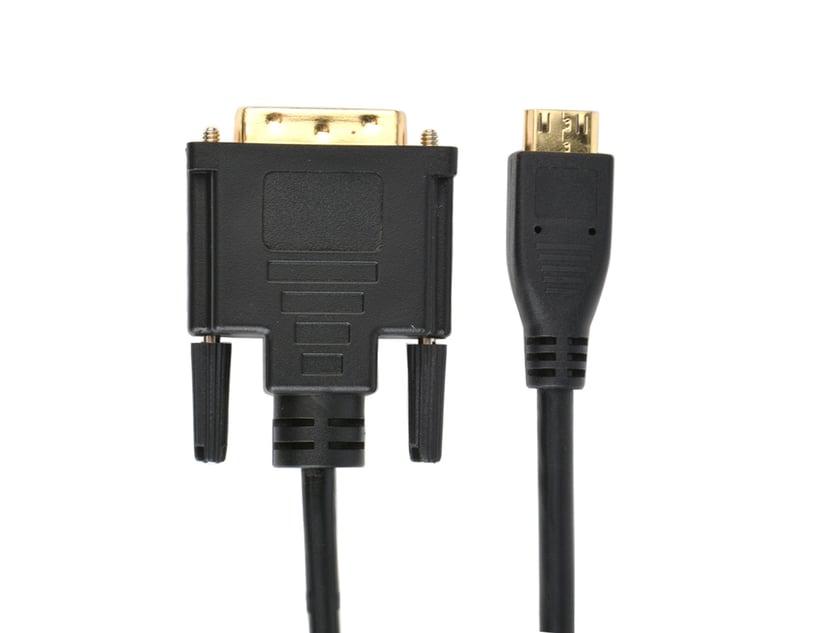 Prokord HDMI 1.4-kabel HDMI Mini Hane DVI-D Dual Link Hane 1m