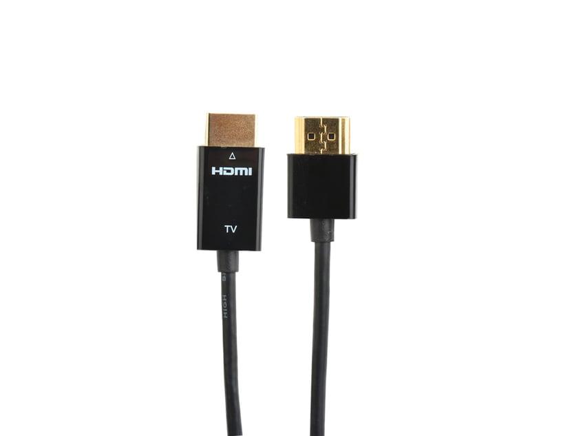 Prokord HDMI-kabel - Tunn guldpläterad 1m HDMI Hane HDMI Hane