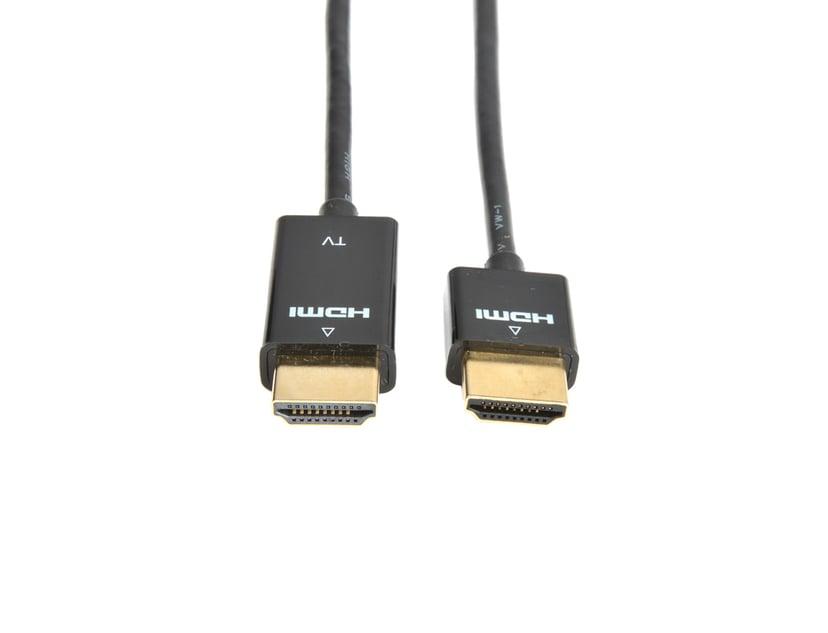 Prokord HDMI-kabel - Tunn guldpläterad 2m HDMI Hane HDMI Hane