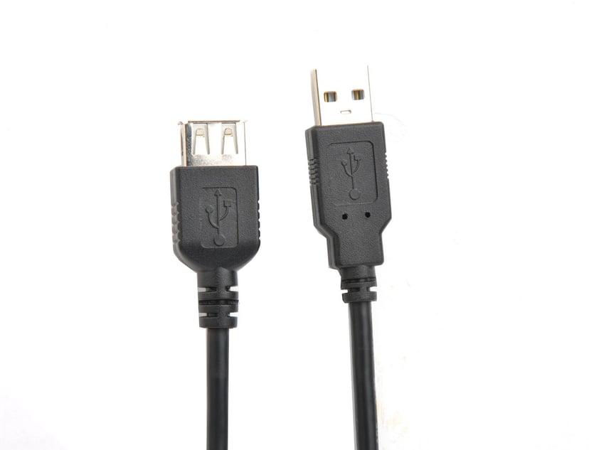 Prokord USB-kabel 0.1m 4-stifts USB typ A Hane 4-stifts USB typ A Hona