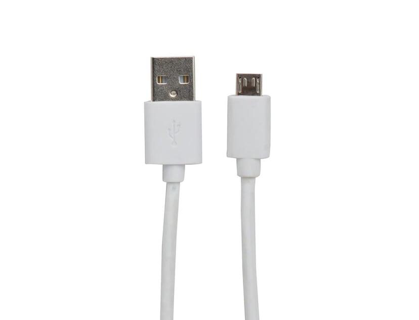 Prokord USB-kabel 2m 4-stifts USB typ A Hane 5-stifts mikro-USB typ B Hane