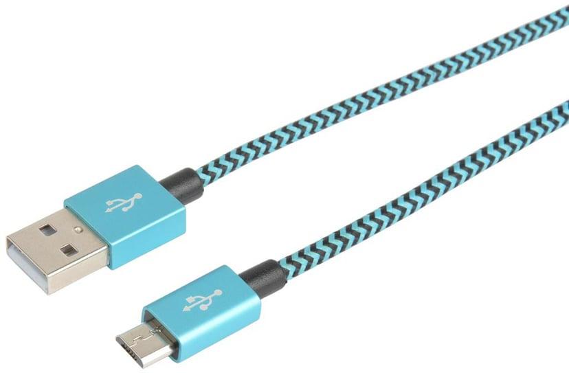 Cirafon USB-kabel Micro USB 1m - Blå