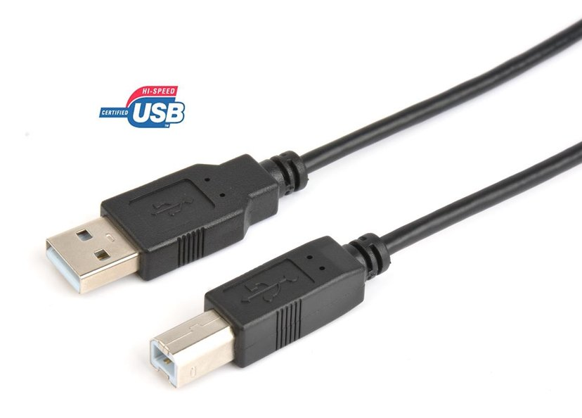 Prokord USB-kabel 2m 4-pins USB type A Hann 4-pins USB-type B Hann