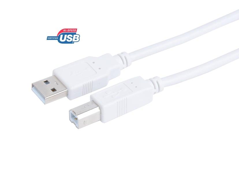 Prokord USB-kabel 2m 4-stifts USB typ A Hane 4-stifts USB typ B Hane