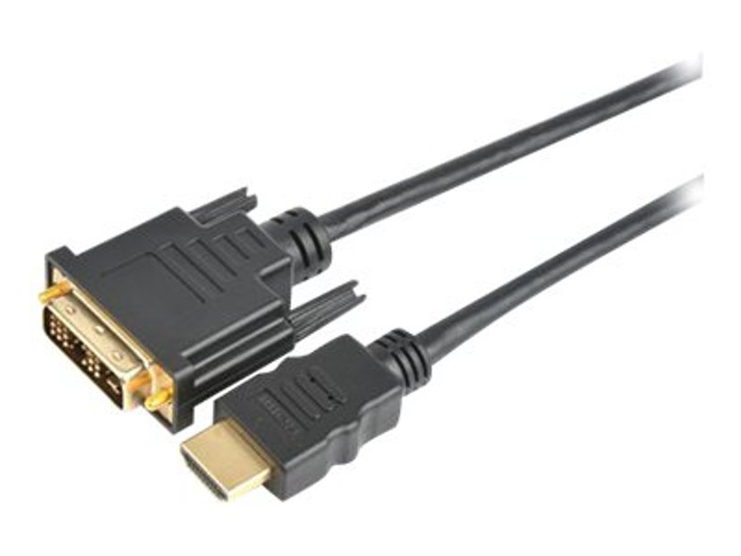 Prokord HDMI-kabel 1m DVI-D Hane HDMI Hane