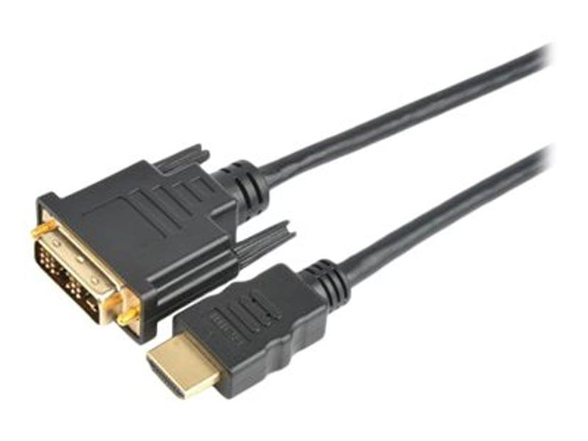 Prokord HDMI-kabel 2m DVI-D Hann HDMI Hann