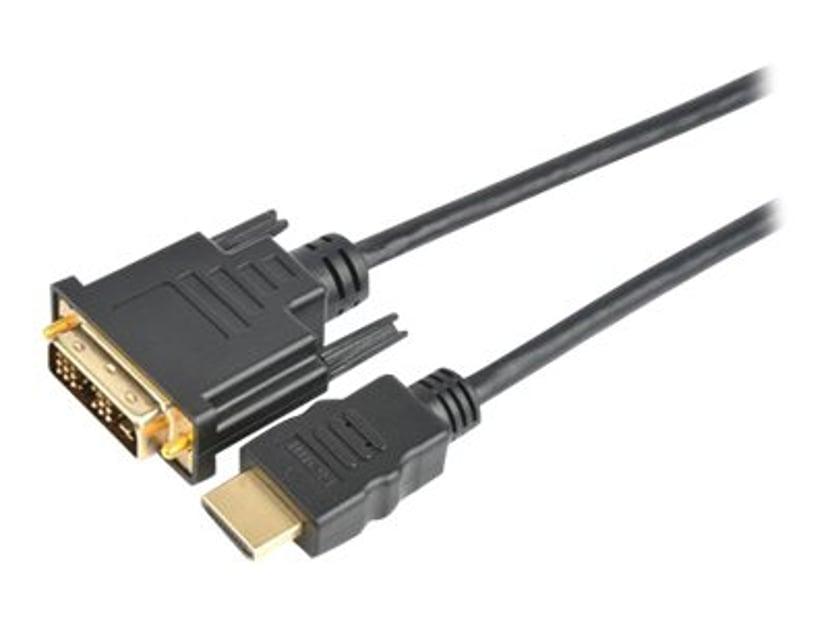 Prokord HDMI-kabel 3m DVI-D Hann HDMI Hann