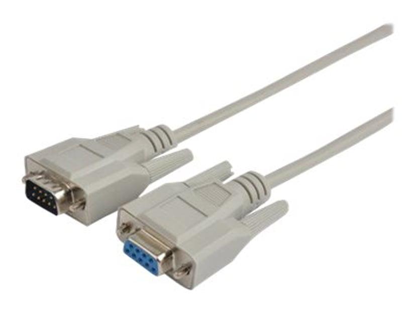 Prokord Serielforlængerkabel 15m 9-pin D-Sub (DB-9) Han 9-pin D-Sub (DB-9) Hun