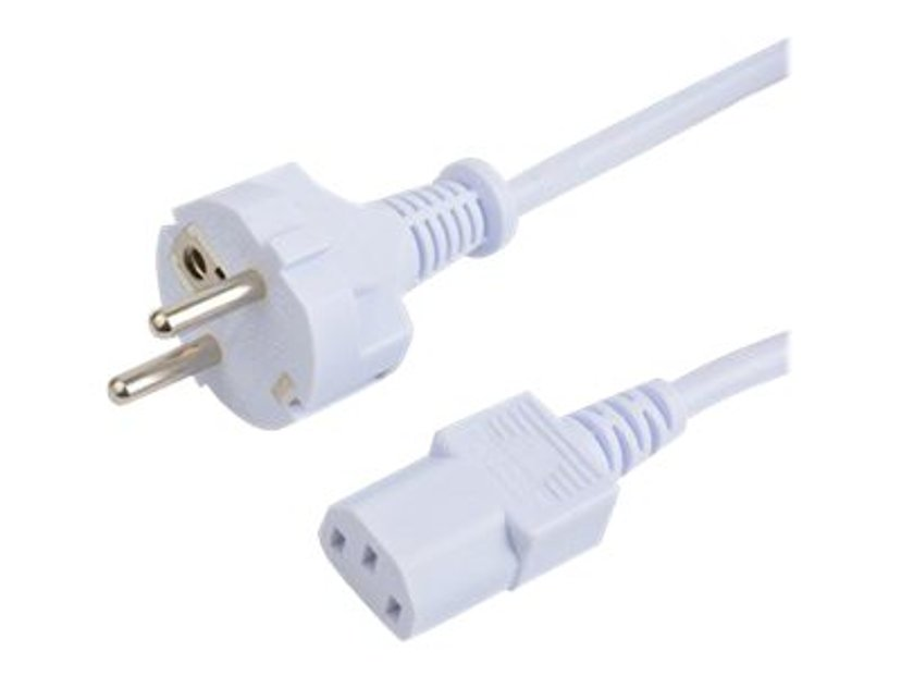 Prokord Strømkabel 0.5m CEE 7/7 strøm Hann Strøm IEC 60320 C13