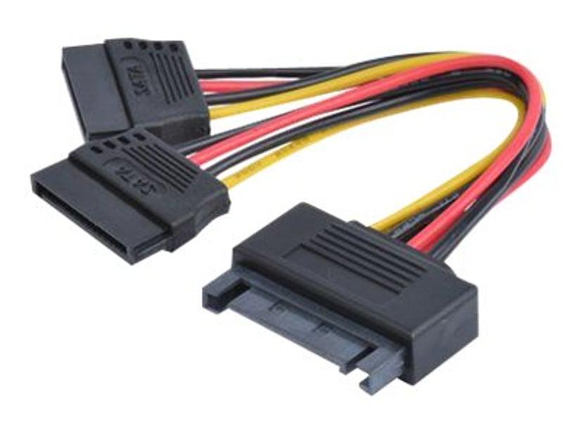 Prokord Strømadapter 15-pins seriell ATA-strøm Hann 15-pins seriell ATA-strøm Hunn 0.1m