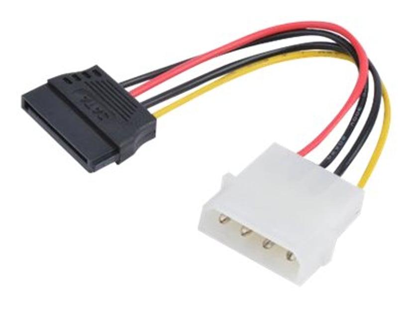 Prokord Strømkabel 4-pin intern strøm Hann 15-pins seriell ATA-strøm Hunn