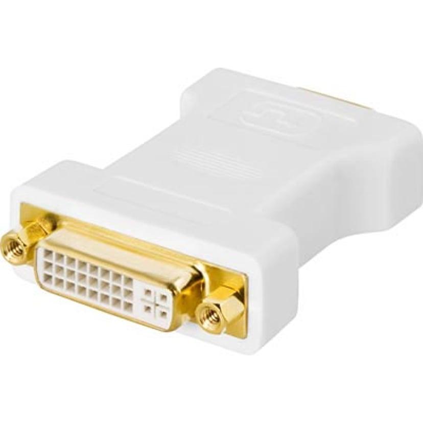Deltaco Adapter DVI-I Hunn VGA Hann