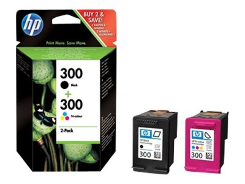 HP Bläck Multipack No.300 (BK+Color) - DJ D1663/D1668/D2680