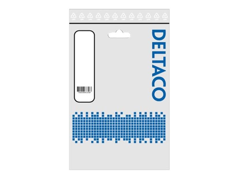 Deltaco Strømkabel Europlug (strøm CEE 7/16) Hann Strøm IEC 60320 C7 1m